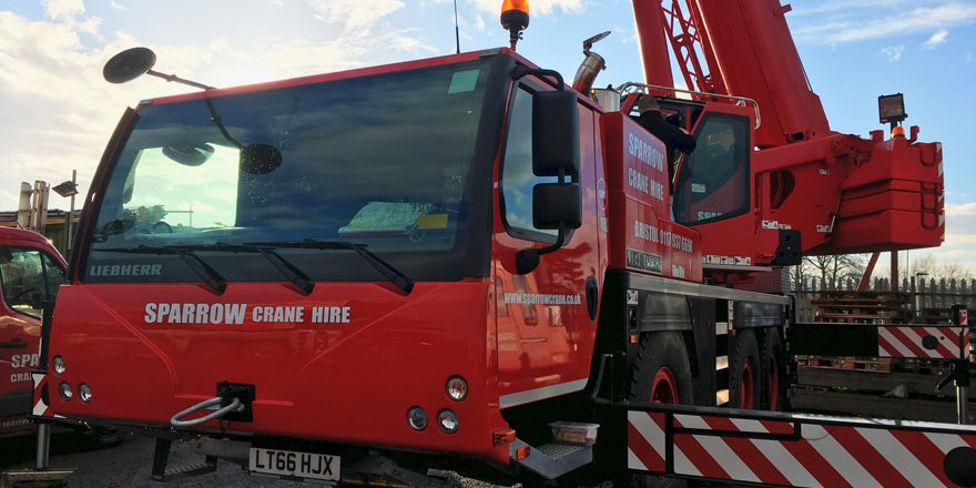 Sparrow Crane Hire have just invested in two brand new Liebherr cranes