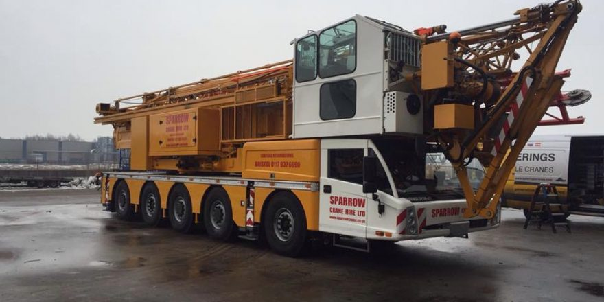 We have a new edition to the ever growing fleet, A Spierings SK599 AT5 self erecting mobile tower crane